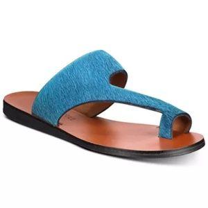KENNETH  COLE new palm sandals fur blue sandals